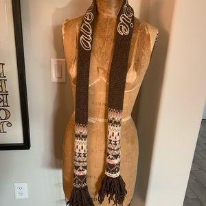 Abercrombie & Fitch vintage knit logo scarf 🧣